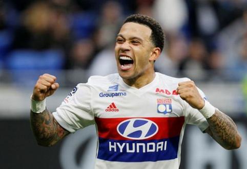 """""""Lyon"""" iškovojo užtikrintą pergalę, """"Nantes"""" ir """"Rennes"""" barstė taškus"""