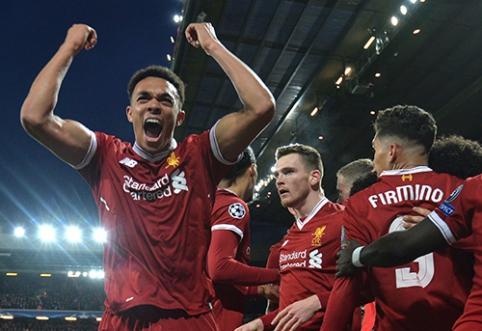 """Čempionų lyga: """"Liverpool"""" ir """"Barcelona"""" nepasigailėjo varžovų (VIDEO)"""