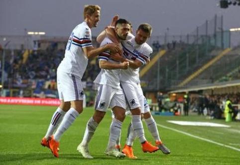 """""""Atalanta"""" neišnaudojo šanso pakilti į šeštą vietą, """"Fiorentina"""" jungiasi į kovą dėl vietos Europos lygoje (VIDEO)"""