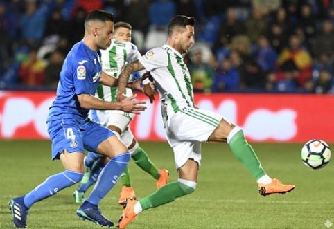 """""""Real Betis"""" iškovojo dramatišką pergalę prieš """"Getafe"""" (VIDEO)"""