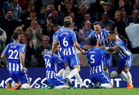 """Vietą ir kitą sezoną """"Premier"""" lygoje užsitikrinęs """"Brighton"""" nubaudė """"Man Utd"""" (VIDEO)"""