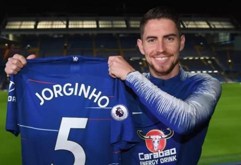 """Oficialu: """"Chelsea"""" sukirto rankomis su """"Napoli"""" saugu Jorginho"""