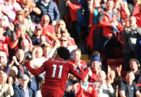 """""""Liverpool"""" tęsia pergalingą žygį, """"Arsenal"""" džiaugėsi pirmaisiais taškais"""