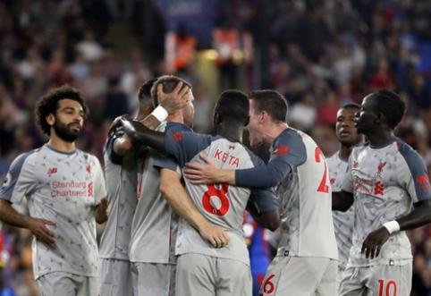 """""""Liverpool"""" išvykoje įrodė pranašumą prieš """"Crystal Palace"""" (VIDEO)"""