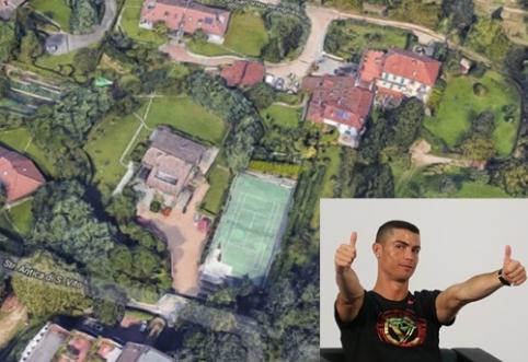 POP: Naujieji C. Ronaldo namai Turine - su slaptu išėjimu ir 8 miegamaisiais (FOTO)