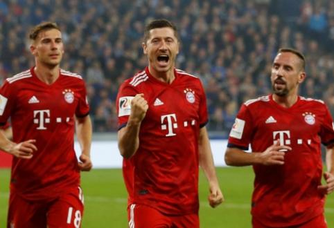 """Neklumpantis """"Bayern"""" paliko """"Schalke"""" pirmenybių dugne, BVB ir vėl prarado taškus"""