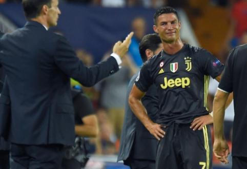 """""""Real"""" ir """"Man Utd"""" triuškino varžovus, """"Man City"""" krito prieš """"Lyon"""", o Ronaldo sulaukė raudonos kortelės"""