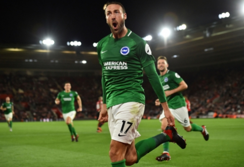 """Vėl dviejų įvarčių deficitą panaikinęs """"Brighton"""" išplėšė lygiąsias prieš """"Southampton"""""""