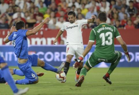 """""""Sevilla"""" patyrė antrąją nesėkmę iš eilės Ispanijos pirmenybėse"""