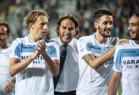 """""""Lazio"""" iškovojo pergalę, """"Milan"""" ir toliau barsto taškus"""