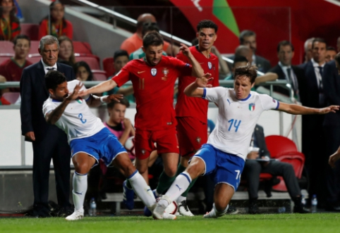 Italai nusileido portugalams, švedai visiškai subyrėjo rungtynių pabaigoje