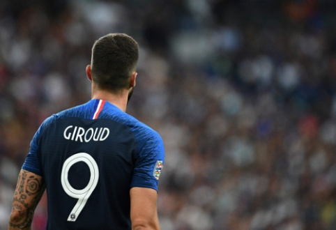 O. Giroud rezultatyviausių Prancūzijos rinktinės žaidėjų sąraše pralenkė Z. Zidane'ą