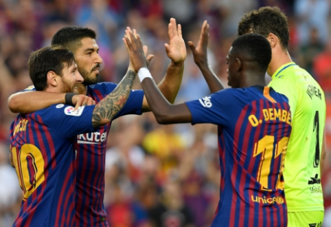 """""""Barcelona"""" namuose sutrypė mažiausią """"La Liga"""" komandą, """"Betis"""" laimėjo derbį"""