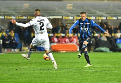 """""""Serie A"""": Lentelės kaimynų dvikovoje - nesunki """"Atalanta"""" pergalė"""