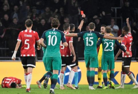 """""""Tottenham"""" košmaras Čempionų lygoje tęsiasi - Lloriso pašalinimas iš aikštės ir lygiosios su PSV"""