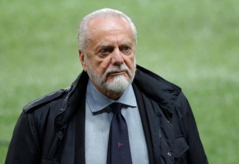 """De Laurentiis: """"Jeigu norime visiškai nenužudyti futbolo, turime trumpinti rungtynių laiką"""""""