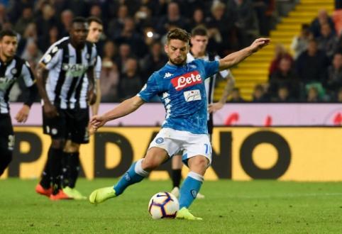 """""""Napoli"""" sumažino atsilikimą nuo """"Juventus"""""""