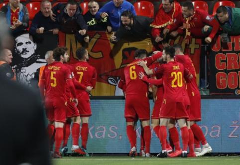 Lietuvos rinktinės agoniją Tautų lygoje pratęsė keturis įvarčius atseikėjusi Juodkalnija