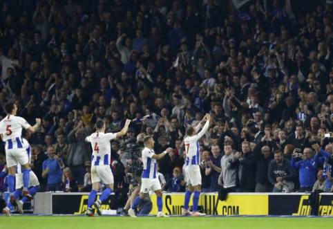 """""""Brighton"""" minimaliu skirtumu palaužė """"West Ham"""" futbolininkus"""