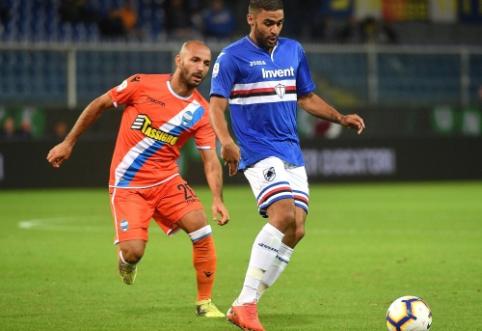 """""""Seria A"""" vidutiniokų dvikovoje - minimali """"Sampdoria"""" pergalė"""