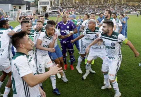 """""""Palmeiras"""" klubas dešimtą kartą savo istorijoje tapo Brazilijos futbolo čempionu"""