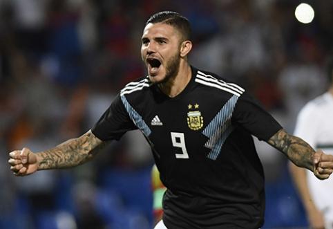 """M.Icardi: """"Argentinos rinktinėje vyrauja puiki atmosfera"""""""