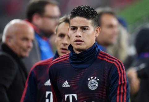 """Kicker"": ""Bayern"" neišpirks J. Rodriguezo kontrakto"