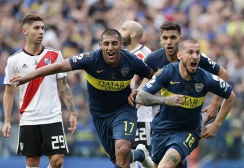 """Pietų Amerikos futbolo klasikoje - """"Boca Juniors"""" ir """"River Plate"""" lygiosios"""