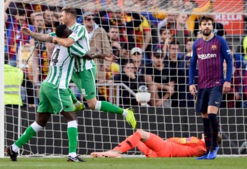 """Barselonoje - septyni įvarčiai, Rakitičiaus pašalinimas ir """"Real Betis"""" pergalė"""