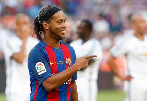 Ronaldinho prašneko apie įsimintiniausią karjeros įvartį