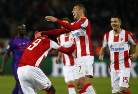 """Netikėtumai Čempionų lygoje: """"Crvena Zvezda"""" nukovė """"Liverpool"""", """"Club Brugge"""" sumindė """"Monaco"""""""