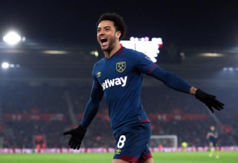 """""""Premier"""" lyga: F. Andersonas atvedė į pergalę """"West Ham"""" ekipą"""