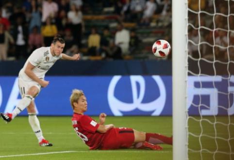 """""""Hat-tricku"""" pasižymėjęs G. Bale'as išvedė """"Real"""" į pasaulio klubų taurės finalą"""