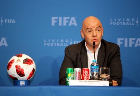 G. Infantino neatsisako galimybės surengti 48 komandų pasaulio čempionatą jau Katare