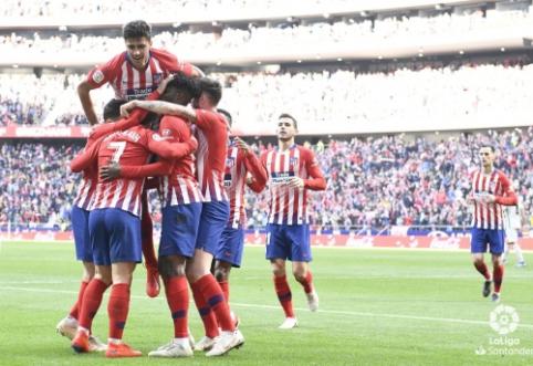 """""""Atletico"""" pasiekė svarbią pergalę miesto derbyje, """"Valencia"""" kyla į viršų"""