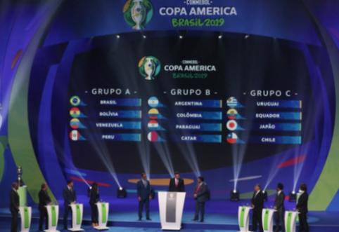 """Ištraukti """"Copa America"""" turnyro burtai: Argentina varžysis su Kolumbija"""