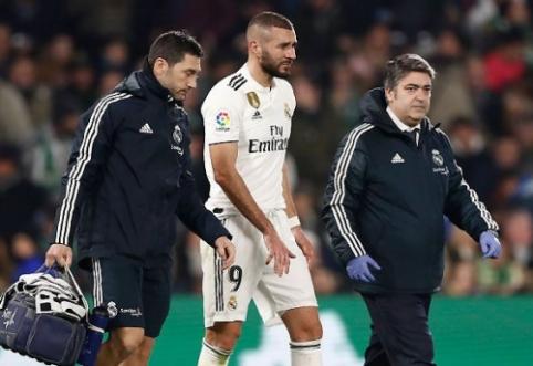 """""""Real"""" liko be puolėjų: K. Benzemai lūžo pirštas"""