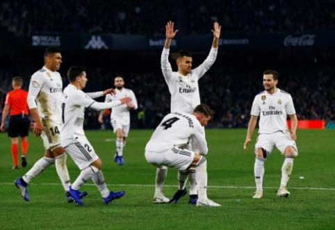 """Baudos smūgį įmušęs D. Ceballosas Sevilijoje išgelbėjo """"Real"""", """"Barca"""" sutriuškino """"Eibar"""""""