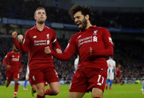 """""""Liverpool"""" į pergalę atvedė dar vienas M. Salah 11 m. baudinys, """"Chelsea"""" palaužė """"Newcastle"""""""