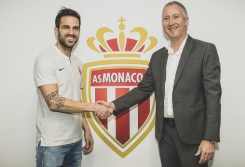 "Oficialu: C. Fabregasas tapo ""Monaco"" klubo žaidėju"