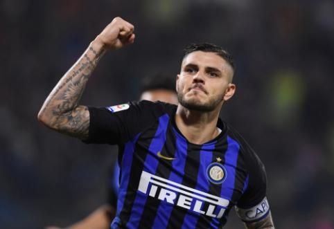 """Derybos dėl M. Icardi sutarties pratęsimo su """"Inter"""" – aklavietėje"""