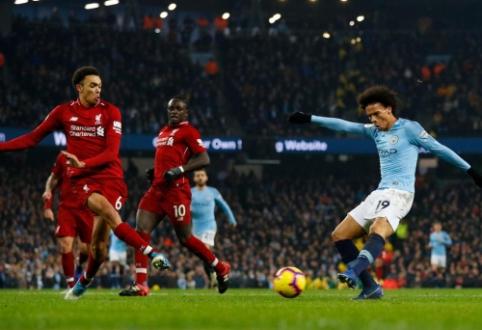 """Intriga grįžta: """"Man City"""" įveikė pirmą kartą šiame sezone suklydusį """"Liverpool"""""""