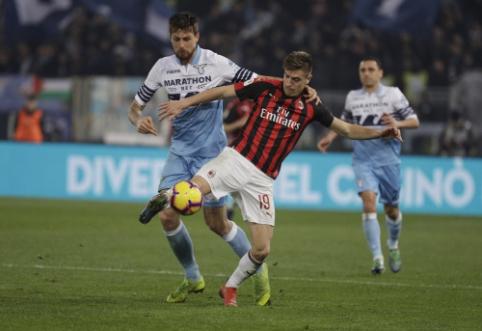 """""""Coppa Italia"""" pusfinalis: Pirmosios """"Lazio"""" ir """"AC Milan"""" rungtynės baigėsi be įvarčių"""