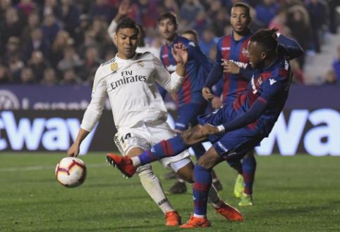 """Madrido """"Real"""" tik 11 metrų baudinių dėka įveikė """"Levante"""""""