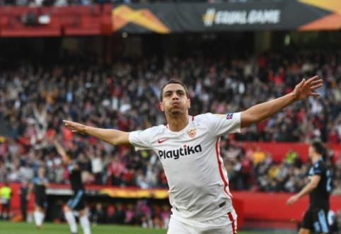 """""""Sevilla"""" dar kartą įveikė """"Lazio"""" ir žengė į Europos lygos aštuntfinalį"""