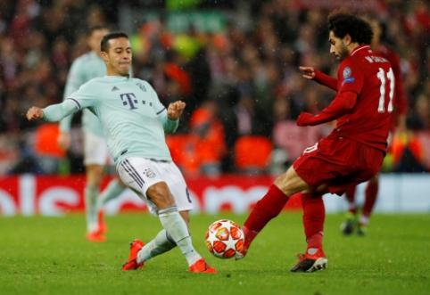 """Lygiųjų vakaras: """"Liverpool"""" nepralaužė """"Bayern"""", """"Barca"""" – """"Lyon"""" gynybos"""