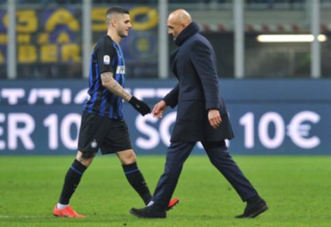 """L. Spalletti: """"Icardi pats atsisakė vykti į Vieną"""""""