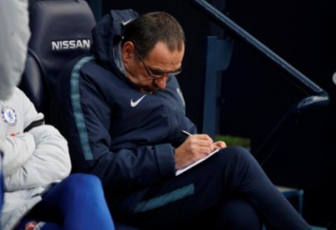 """M. Sarri artimiausią mėnesį kausis dėl ateities """"Chelsea"""" klube"""