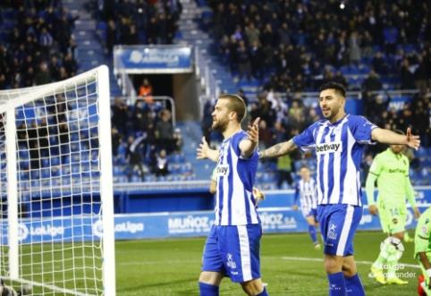 """""""Alaves"""" nutraukė nesėkmių ruožą Ispanijos pirmenybėse"""