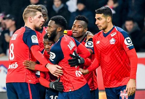 """""""Ligue 1"""": """"Lille"""" nepasigailėjo """"Nice"""""""